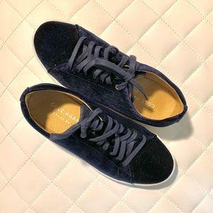 Cole Haan Navy Suede Sneaker